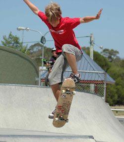 Ben on skateboard