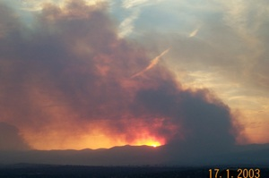 I took this pic from the top of Mt Rogers of the fires as they raged through Canberra