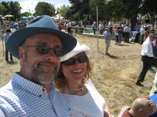 Chris Edwards and Janine at yass picnic race day