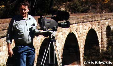 Mike Leyland at the top viaduct of the Zig Zag Railway at Lithgow 30-8-97