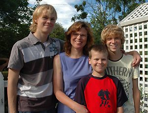 Mum and the boys last Saturday