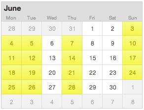 june 2012 city to surf training calendar
