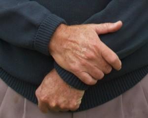 mans hands
