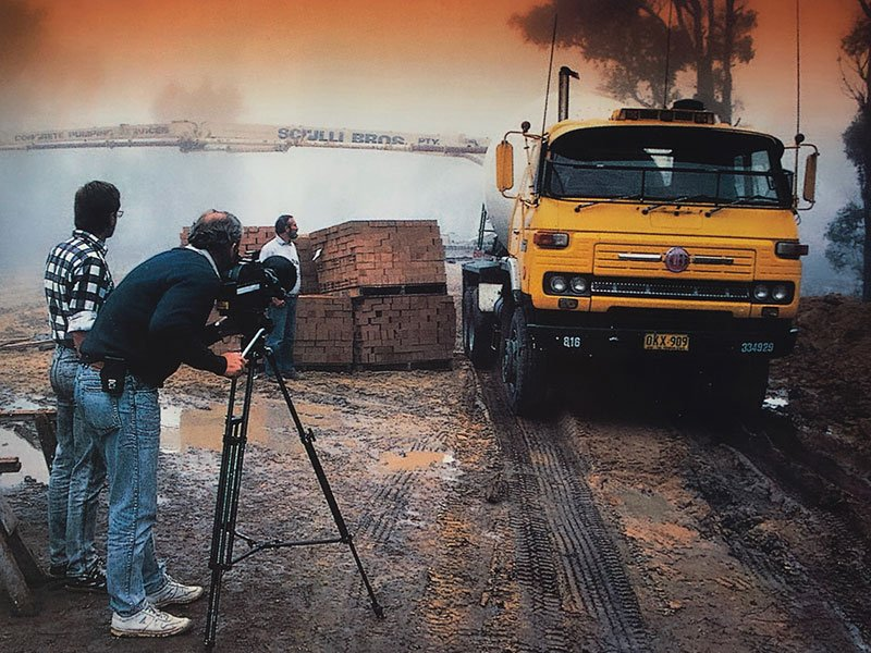 directing a video production for Nissan in 1989
